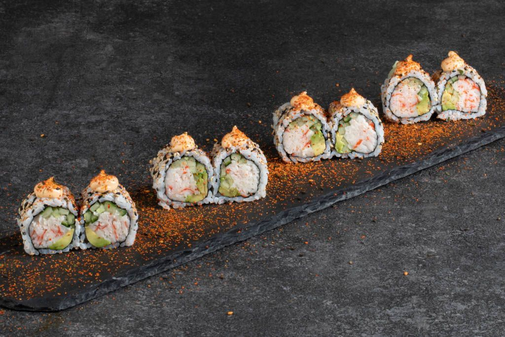 Spicy california uramaki